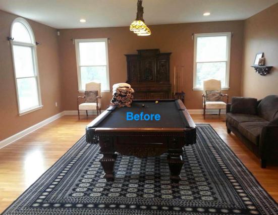 Before billiard room