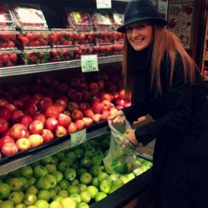 """Apple Picking"" organic Granny Smith apples!"