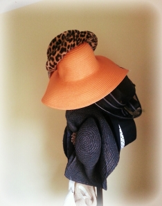 Most of my hats go on the hat rack in my bedroom. The rest I keep in hat-boxes. Yes! Those still exist.