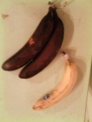Banana freezes perfectly in its peel. Put bananas in the freezer when the begin to brown and use for baking! They make an excellent binder in vegan recipes.