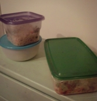 Getting several resealable containers to portion lunches is in is a great idea. Put salads in zip seal bags with a paper towel and dressing in a sealable container or lidded jar!